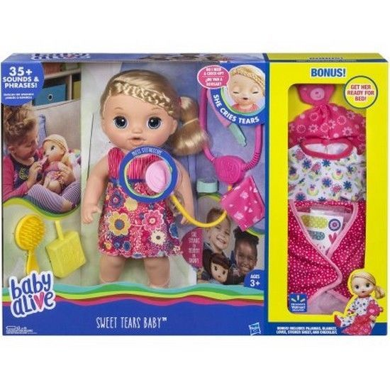 Baby Alive Sweet Tears Baby Blonde Doll Walmart Exclusive New Baby Alive Dolls Baby Alive Doll Clothes Baby Alive