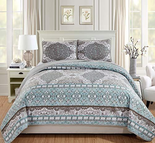 Luxury Home Collection 3 Piece King Cal King Quilted Reve Https Www Amazon Com Dp B07lb6n817 Ref Cm Sw R Bed Spreads California King Quilts Bedspread Set