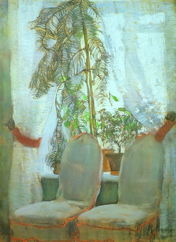 The Window. Moscow, artist's parents appartment - Konstantin Yuon 1905: