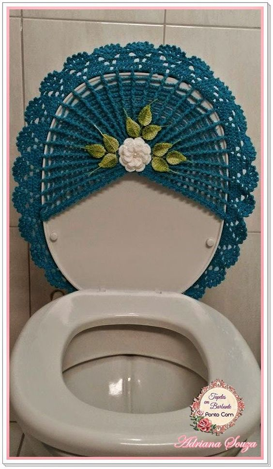 Tapetes em barbante ponto com novo jogo de banheiro for Tapetes de crochet
