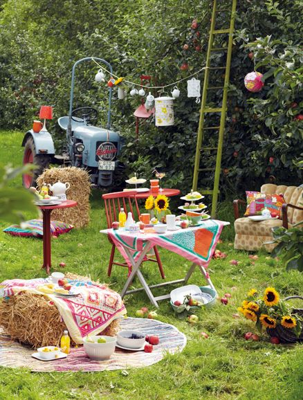 Bunter Gipsy Garten