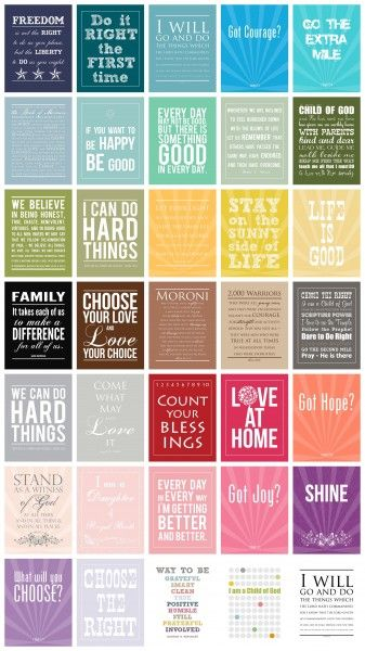Positive Printables. each and everyone is a free printable!!!