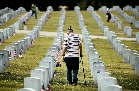 A Stroll Amongst His Brothers.. A real man, a true American....