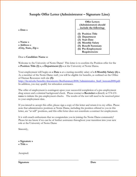 business letter format closing and signature sample template with - sample offer letters