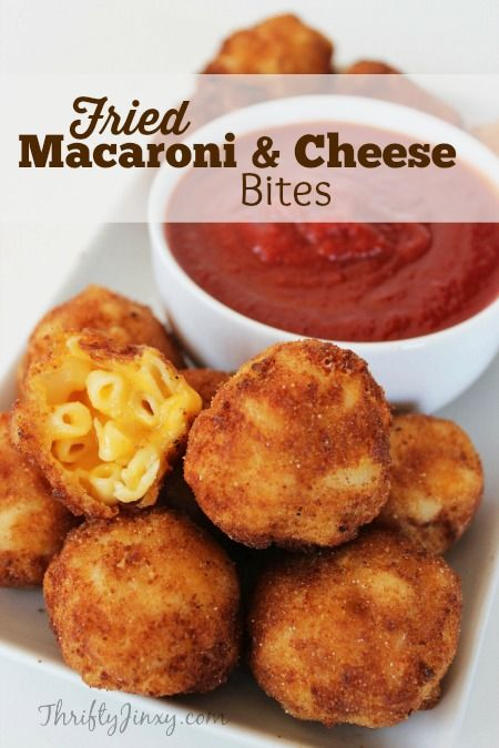 fried macaroni and cheese bites! I LOVE mac and cheese, must try this!