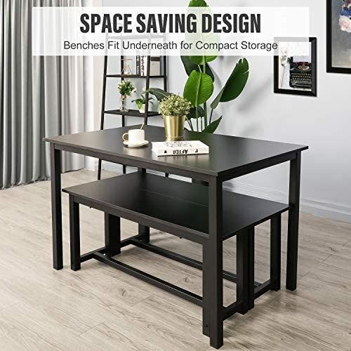 Eclipse Furnishings 6pc Cloverdale Collection Black Dining Set Dining Table Setting Black Dining Set Dining Set