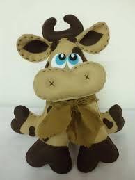 vaca de feltro