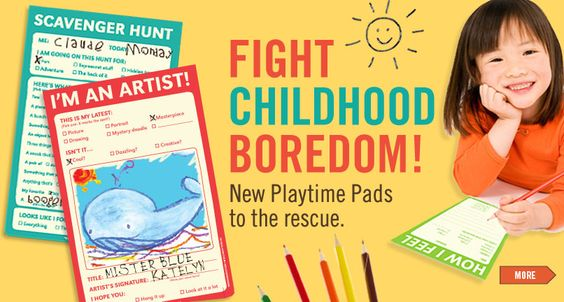 Playtime Pads for the little ones.