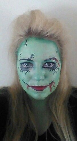 Halloween frankenstein makeup/ face paint
