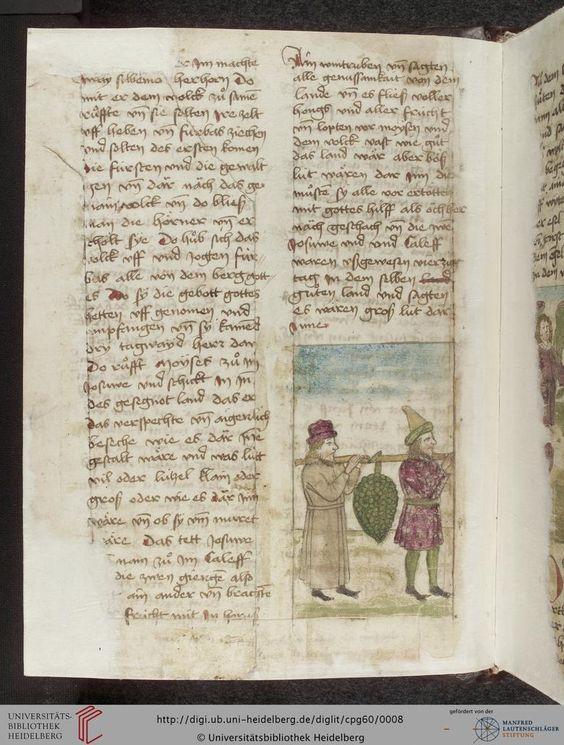 Cod. Pal. germ. 60: Historienbibel ; Irmhart Öser ; 'Brandans Reise' u.a. (Südwestdeutschland, um 1460), Fol 2v