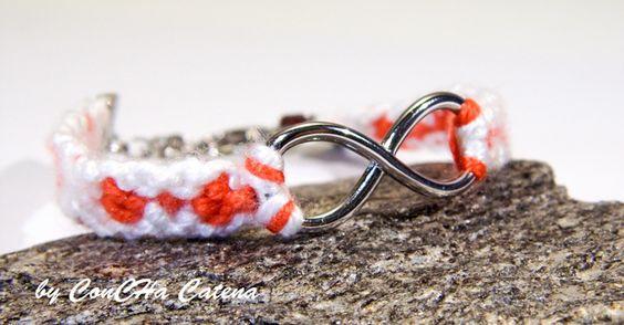 Friendshipbracelet infinity by ConCHa Catena - dawanda.com  #friendshipbracelet #handmade #bracelet