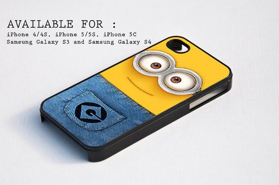 minion face  for iPhone 4, iPhone 4s, iPhone 5, iPhone 5s, iPhone 5c, Samsung Galaxy s3 and Samsung Galaxy s4 Case on Etsy, $7.90