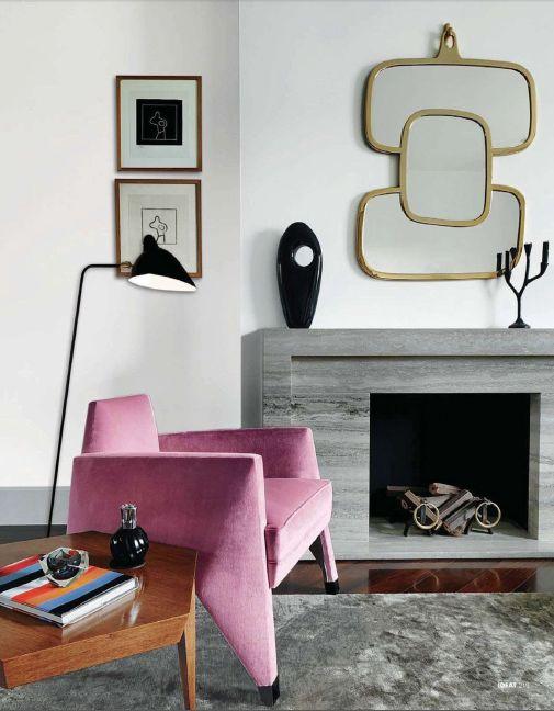 Inspiration #déco d'un #salon avec #cheminée !  http://www.m-habitat.fr/cheminees/styles-de-cheminees/les-cheminees-traditionnelles-3125_A