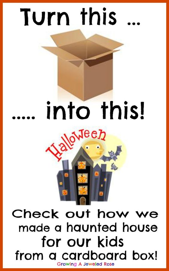 Make a fun haunted house for kids from a cardboard box for How to make a cardboard haunted house