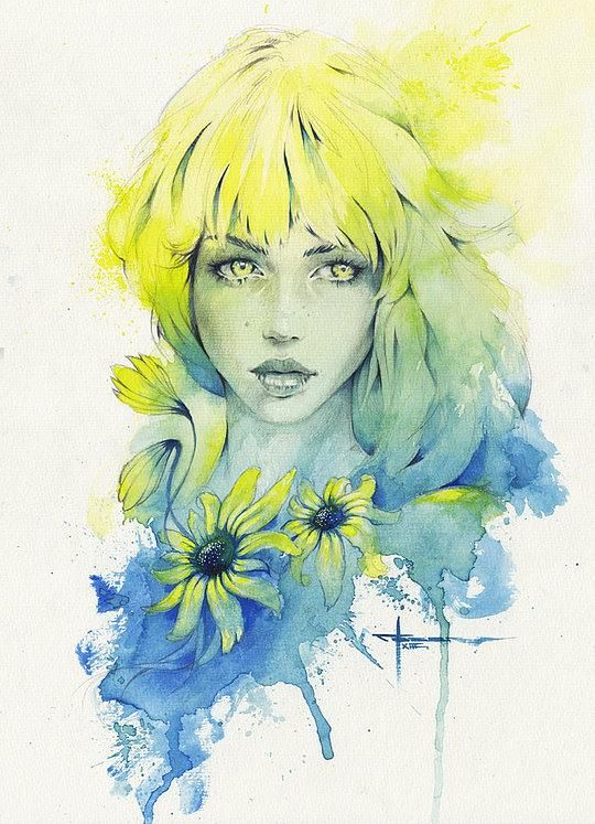 Beautiful Watercolor Paintings by Mekhz >> http://www.cruzine.com/2013/10/29/beautiful-watercolor-paintings-mekhz/ … Please RT #art #illustration