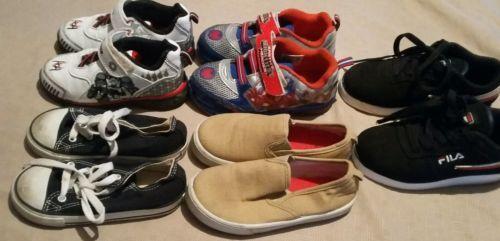 Boys Size 9 10 11 Sneaker Lot Star