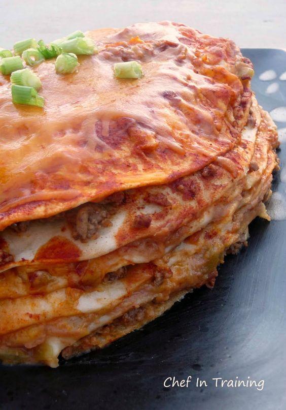 Cheesy Enchilada Stack: