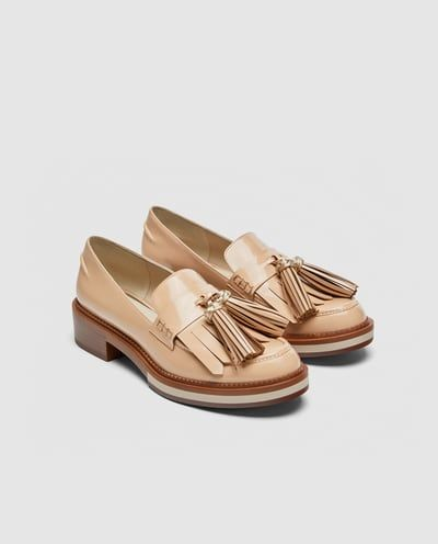 FRINGED PENNY LOAFERS   Women shoes