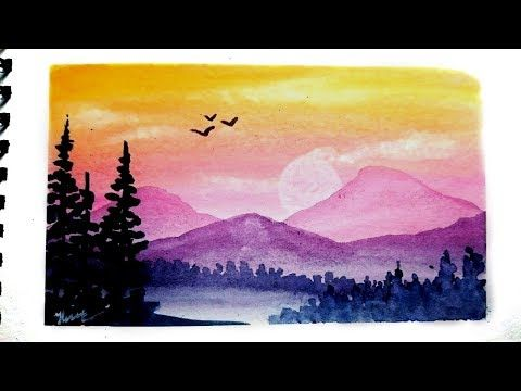 87 Watercolor Landscape Painting Tutorial Easy Youtube