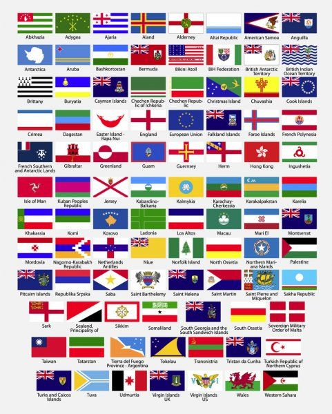 Flags Of The World Dependencies Provinces Islands Territories Disputed Territories Regions Non Recognized By In 2020 Flags Of The World World Country Flags Flag