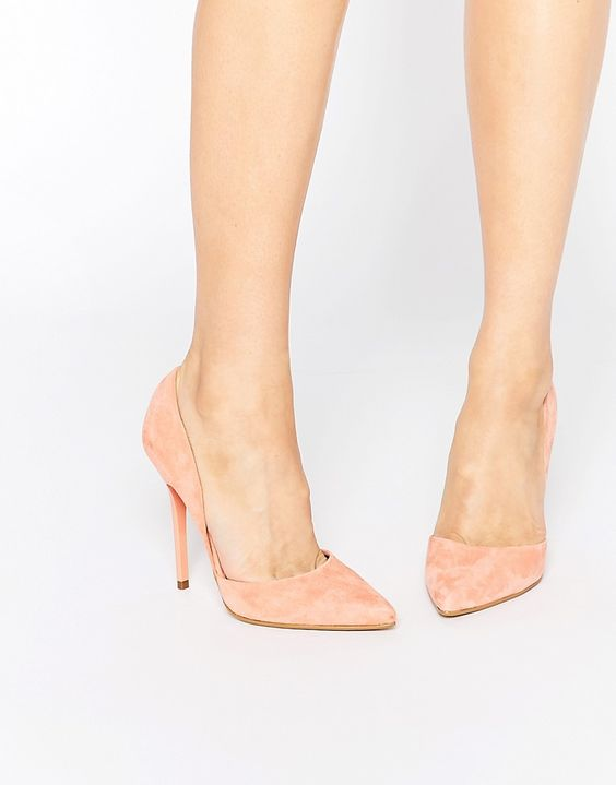 Image 1 ofSteve Madden Varcitty Suede Heeled Court Shoes