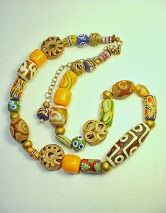 New African trade bead jewelry from Deerwoman Designs Oct 2013