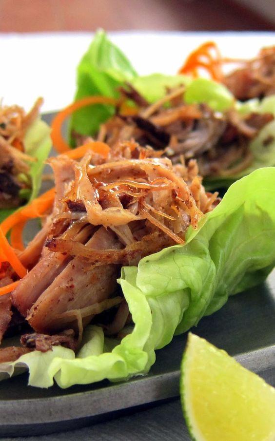 FRESH! Pulled Pork Carnitas Lettuce Wraps   hip pressure cooking