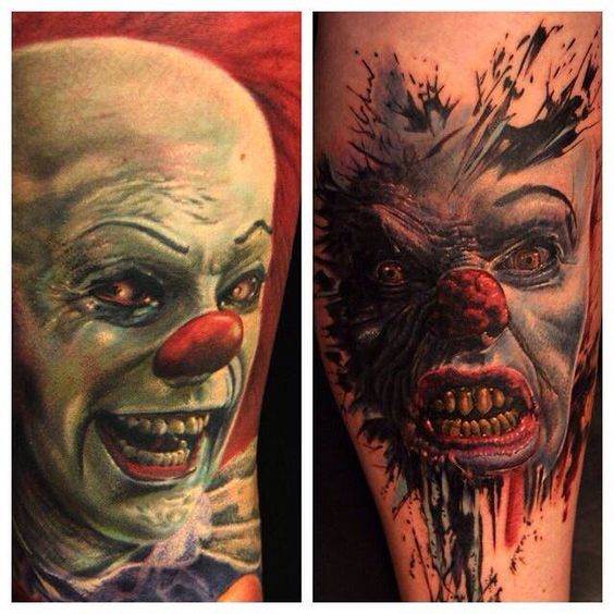 pennywise the clown tattoo ink pinterest clowns the clown and clown tattoo. Black Bedroom Furniture Sets. Home Design Ideas