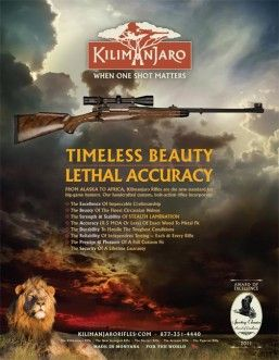 DzinePOD's latest advertising campaign for Kilimanjaro Rifles.