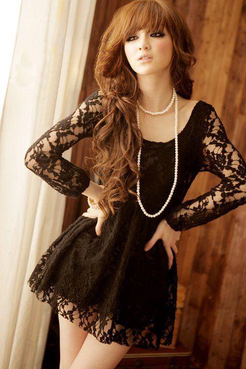 Bluson o vestido de encaje  Yoanis: