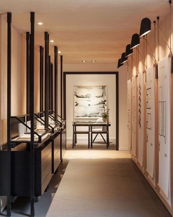 Curated Properties is a minimal sales center located in Toronto, Canada, designed by Mason.