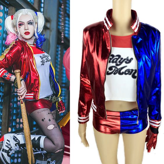 Harley Quinn Traje Halloween Batman Harley Quinn Cosplay Traje do Esquadrão Suicida
