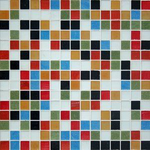 JUBILEE BLEND - Kaleidoscope 20mm Vitreous Glass Mosaic Tile