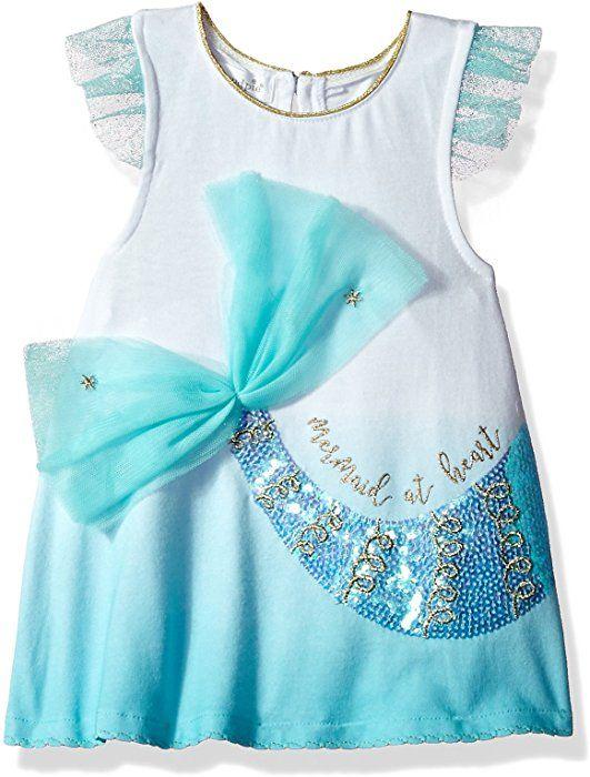 Mud Pie Mermaid Collection Ruffle Summer  Dress