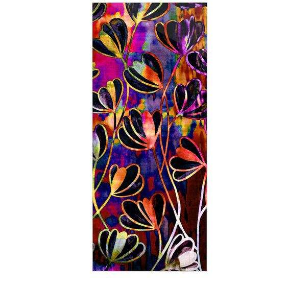 "Ebi Emporium ""Efflorescence - Deep Jewel"" Pink Rainbow Luxe Rectangle Panel"