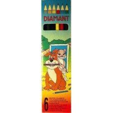 6 darabos, hatszögletű színes ceruza készlet Diamant - Színes ceruzák - 99Ft…