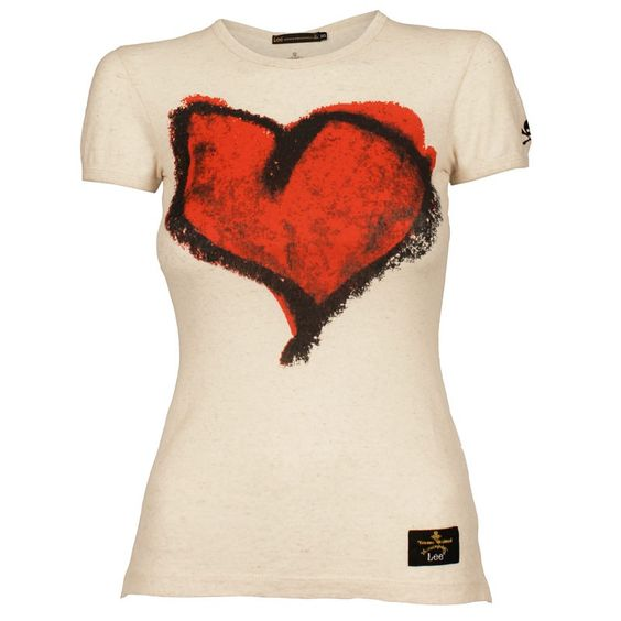 Image detail for -Vivienne Westwood Anglomania Lee Heart T-Shirt | GarmentQuarter