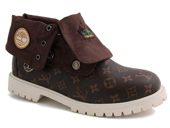 Brown Timberland (LV) Custom Boots Mens