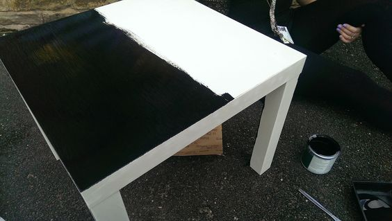 We painted our IKEA tables with blackboard paint for our new writing area chalk tables. Nursery
