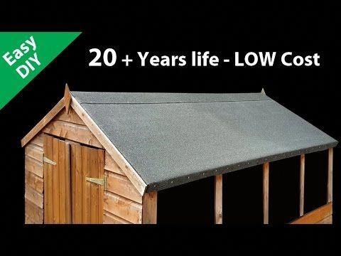 How To Felt A Shed Roof Fit Long Life Roofing Felt Sheddesigns Shed Roof Felt Shed Roof Repair Shed Roof Covering