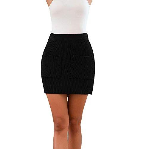 Femmes Summer Split Jupes Mini-Jupe Crayon Taille Haute Jupe Clubwear Jupe NOUVEAU