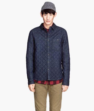 H&M Quilted Denim Shirt Jacket $39.95 | trend | Pinterest ...