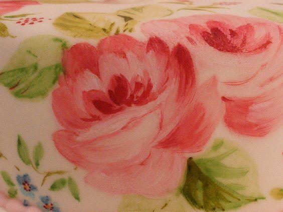 Painted 60th Birthday Cake Detail by neviepiecakes, via Flickr