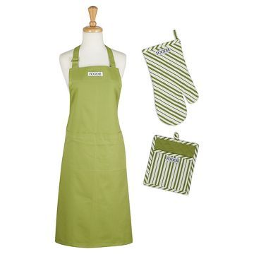 Parsley Chef Gift Set Includes Apron/Potholder/Ovenmitt