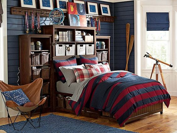 Boy Bedroom Storage: Beadboard Fieldhouse Bedroom // The Ultimate Storage Room