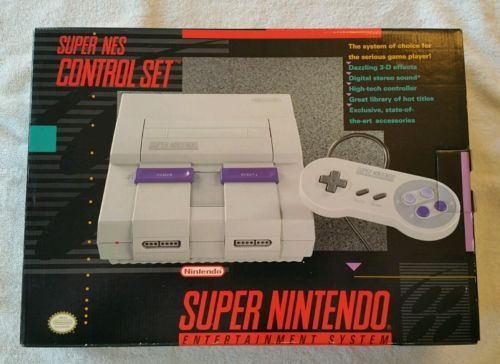 Super Nintendo SNES Console System  $164.99End Date: Wednesday Oct-5-2016 11:33:50 PDTBuy It Now for only: $164.99Buy It Now | Add to watch list