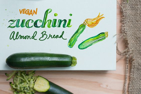 """We have so much zucchini coming out of our garden right now that I have  started baking zucchini bread to freeze for when our baby comes (today is  my due date!). I found this amazing recipe for vegan zucchini bread from  Joy the Baker, and it's so moist you'd never know it was dairy free. Joy's  version is """"almost vegan""""- she makes hers with buttermilk, but I have  substituted Almond Breeze Almond Milk and it works beautifully!  This isn't a super sweet bread, so to make it feel more like a…"""