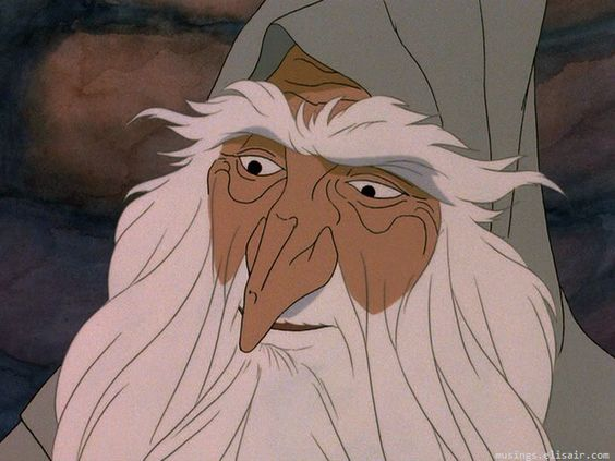 Gandalf smiles at Frodo