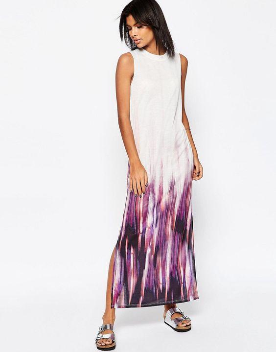Image 1 ofASOS Maxi Dress In Tie Dye Print