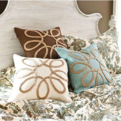 Looped Burlap Pillow | European-Inspired Home Furnishing | Ballard Designs